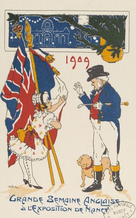 Dessin de P.-R. Claudin dans le Rapport général sur l'Exposition internationale de l'Est de la France Nancy-1909. Planche XXVI