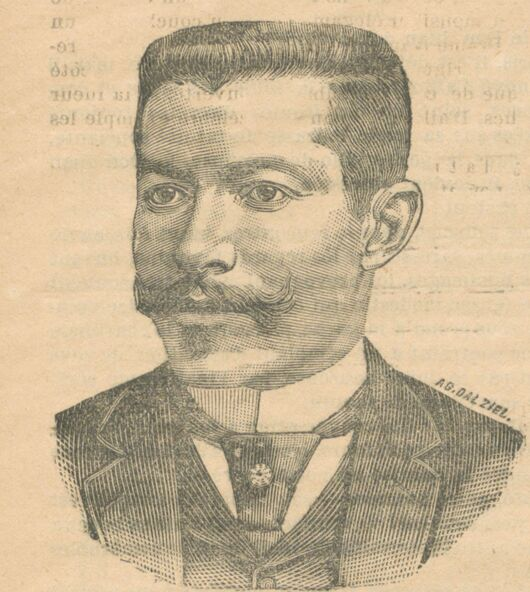 Les hommes du jour. M. Jonnart, député du Pas-de-Calais, ministre des Travaux publics. Image publiée à Cherbourg le 10 décembre 1893 dans le journal : Le Réveil illustré