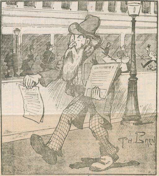 Méthode infaillible, par Théophile Barn. Image publiée à Saint-Gaudens le 4 mars 1906 dans le journal : L'Étendard républicain. Supplément illustré du dimanche