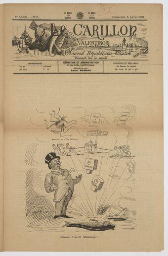 Le Carillon valentinois : journal républicain, illustré, littéraire et satirique, paraissant tous les samedis