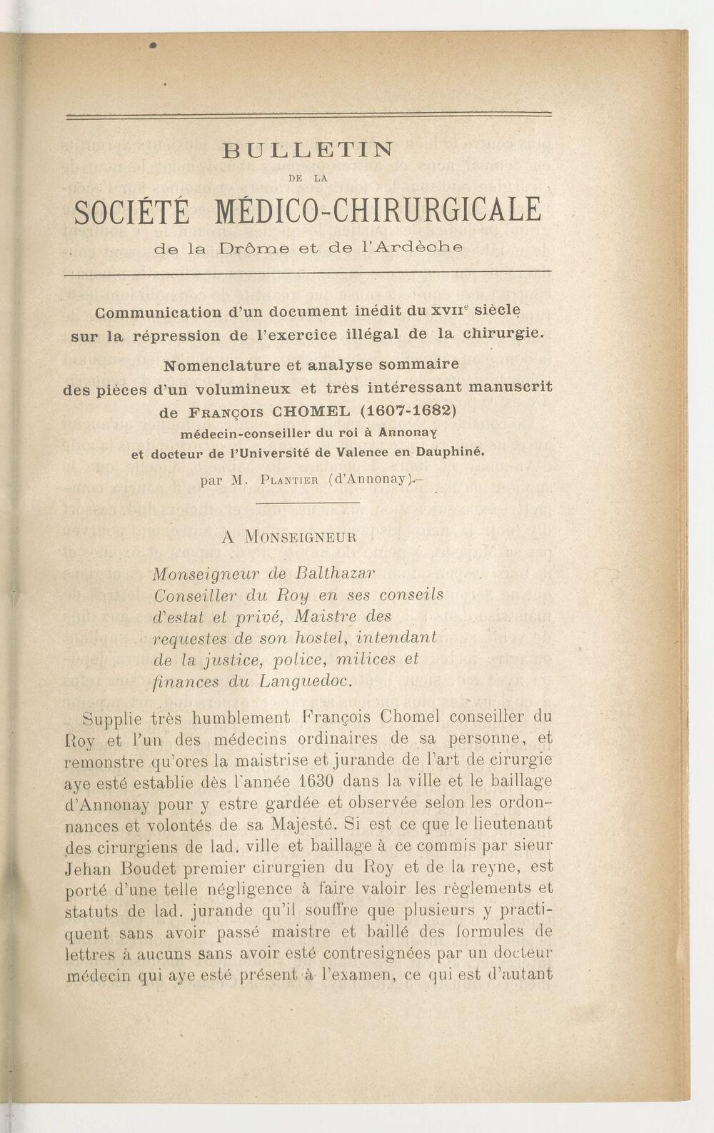 Bulletin de la Société médico-chirurgicale de la Drôme et de l'Ardèche