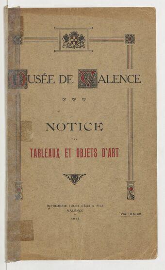 Notice des tableaux et objets d'art