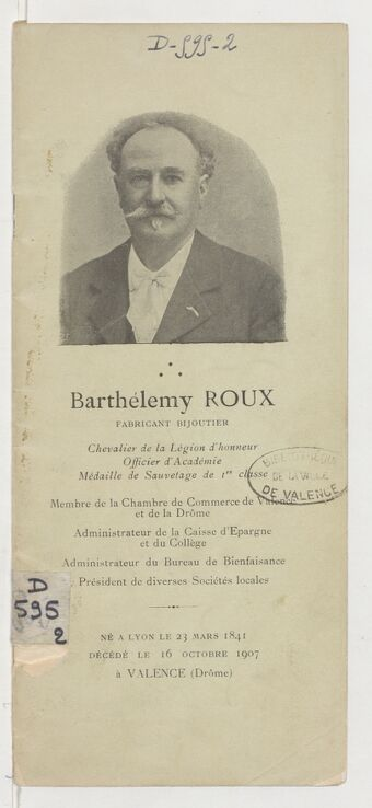 Barthélemy Roux, fabricant bijoutier,...