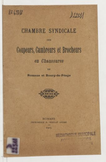 Chambre syndicale des coupeurs, cambreurs et brocheurs en chaussures de Romans et Bourg-de-Péage