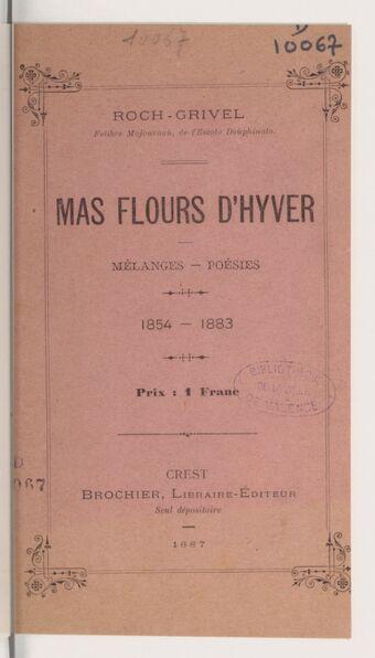 Mas flours d'hyver : mélanges - poésies : 1854 - 1883