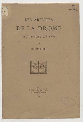 Les artistes de la Drôme au Salon de 1876 / par Zénon Fière