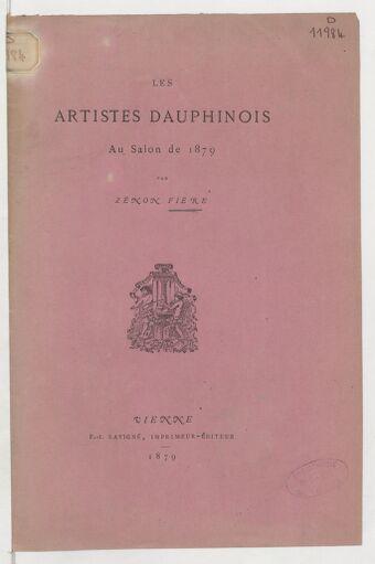 Les artistes dauphinois au Salon de 1879 / par Zénon Fière