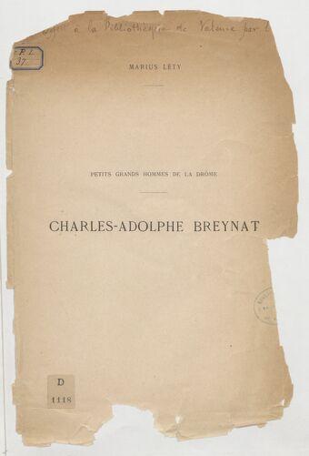 Charles-Adolphe Breynat / Marius Léty