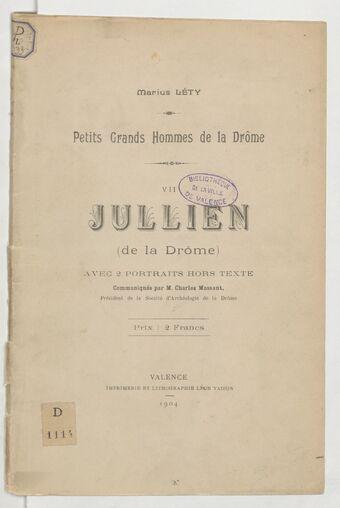 Jullien (de la Drôme) / [par] Marius Léty