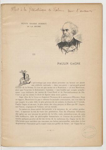Paulin Gagne / Marius Léty