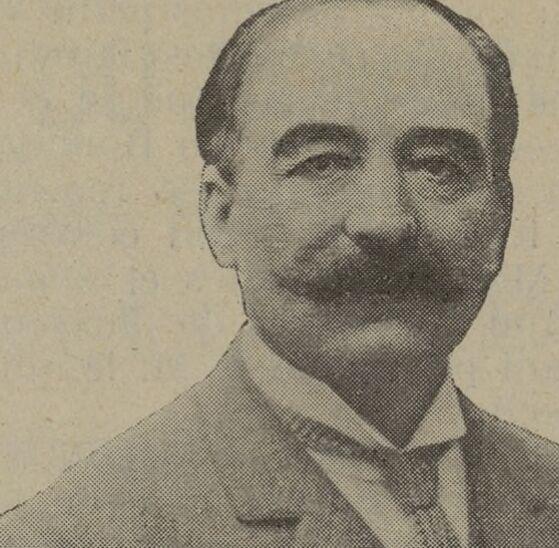 Louis Puech, député de Paris [IIIe arrondissement], ministre des Travaux publics, des Postes et télégraphes. Image publiée à Marseille en janvier/février 1911 dans le journal : Union aveyronnaise