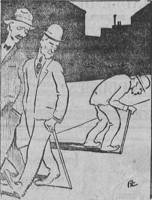 Après les prochaines élections. Image publiée à Cherbourg le 22/29 janvier 1922 dans le journal : L'Avenir de l'Ouest