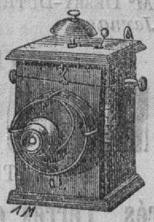 Téléphone L'Omnium, du constructeur-électricien Georges-Ulysse Lagache, Paris, 32 rue Bouret. Image publiée à Boussac le 21 janvier 1892 dans le journal : L'Indépendant de Boussac