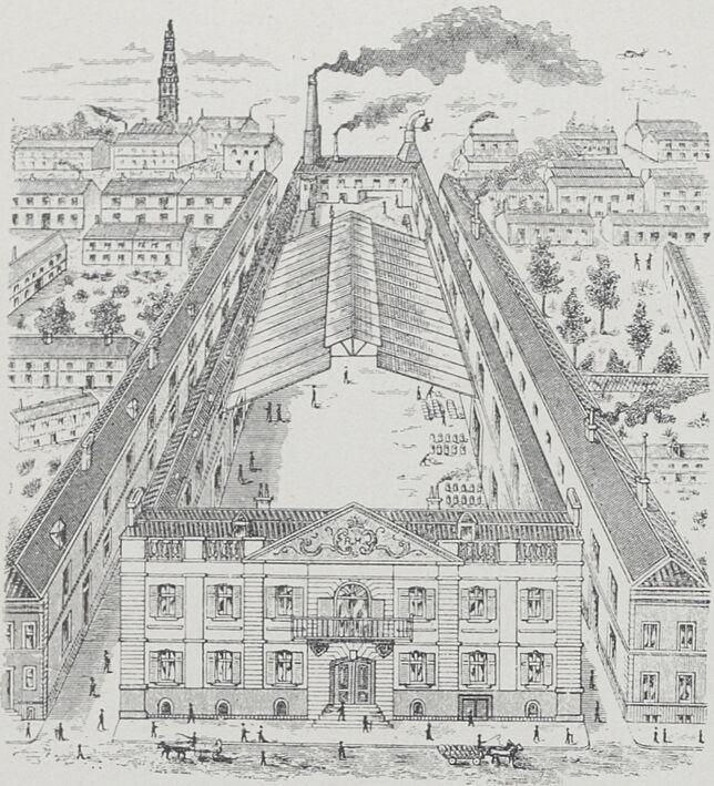 Brasserie René Hannebicque, 7 rue Gambetta, Arras. Café du Casino. Image publiée à Arras en 1904 dans le journal : Arras-Exposition