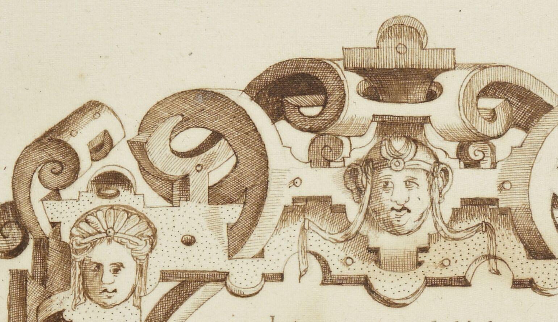 Cartouche de cuir avec masques