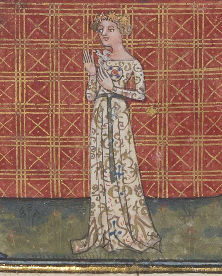 Une dame de grant biaute encontray