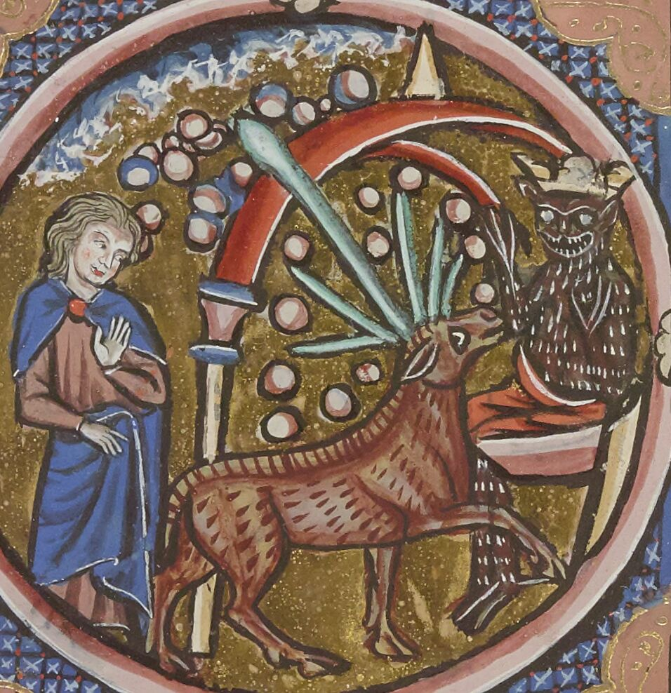Daniel with ram, goat, and stars