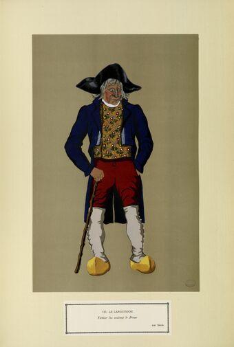 Le Languedoc - Fermier des environs de Privas - XIXe siècle (n° 123)