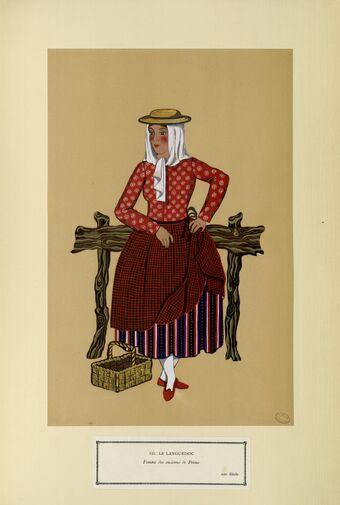 Le Languedoc - Femme des environs de Privas - XIXe siècle (n° 124)