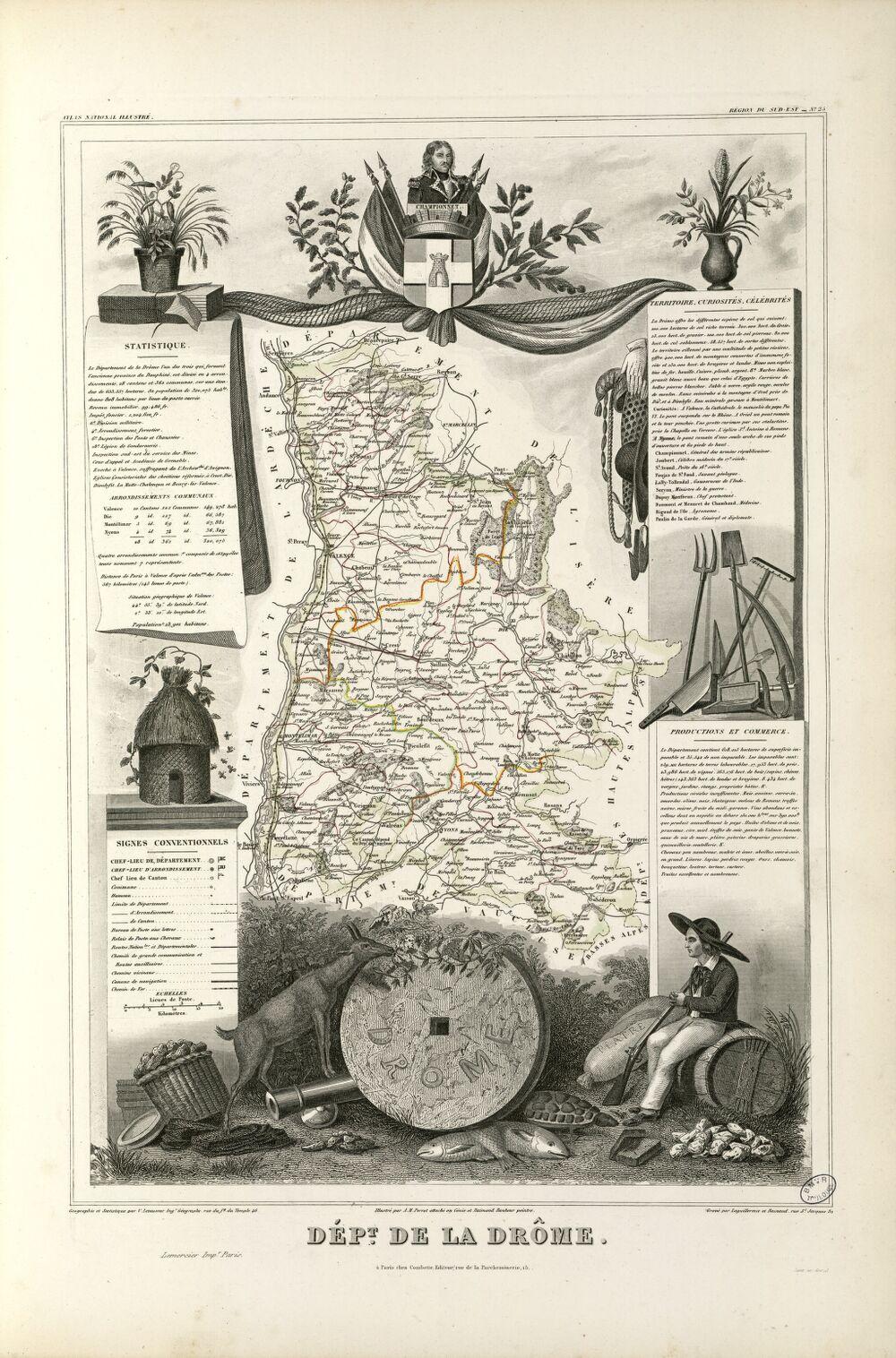 Dépt. de la Drôme (région du sud-est)