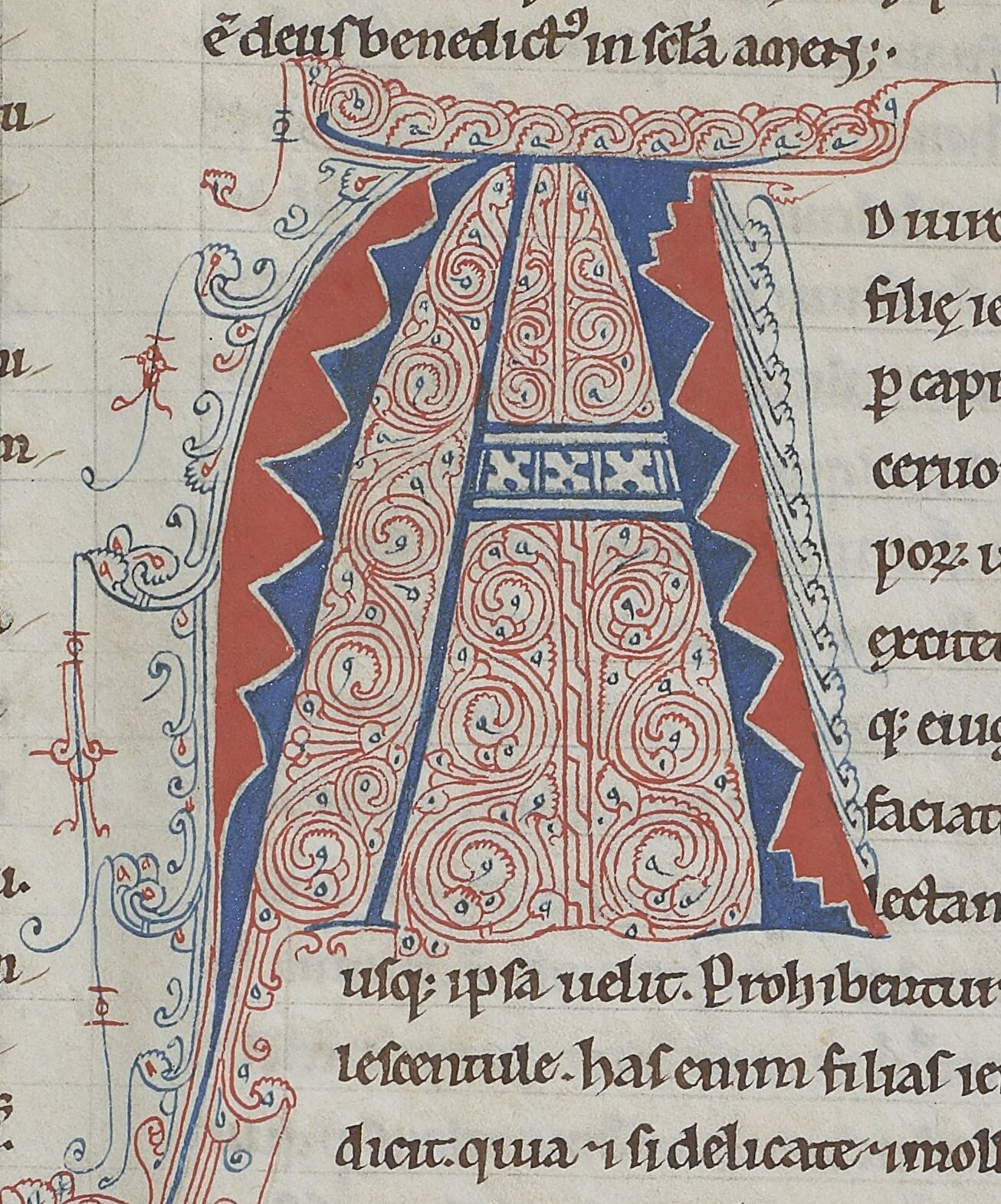 Parti-colored A – 12th-c