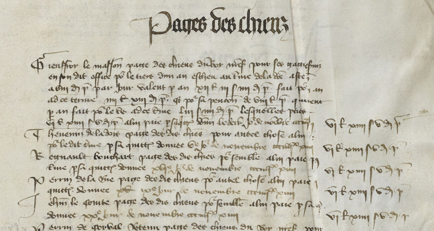 Charles VI had 10 salaried pages for his hunting dogs