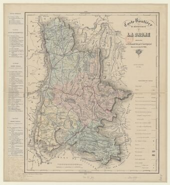 Carte routière du département de la Drôme, dressée sur la demande faite par le conseil général dans sa session de 1848. Edition rectifiée en 1854