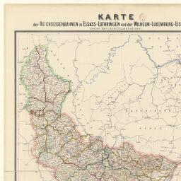 Lothringen Karte.Karte Der Reichseisentahnen In Elsass Lothringen Und Der