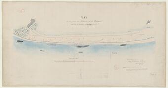 Plan de la prise des Bateaux de la Tourasse située sur le territoire de Viviers (Ardèche) / fait... par... Antoine Grand