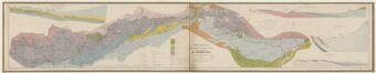 Carte géologique pour servir à l'étude des gisements de minerai de fer du département de l'Ardèche / dressée par M. Ch. Ledoux...