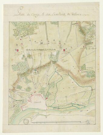 Plan du camp et des environs de Valence