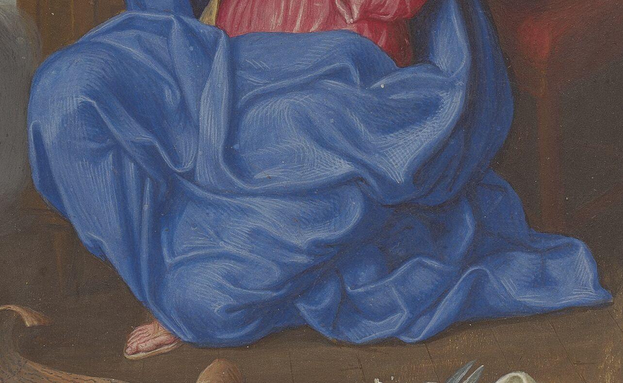 Annunciation drapery
