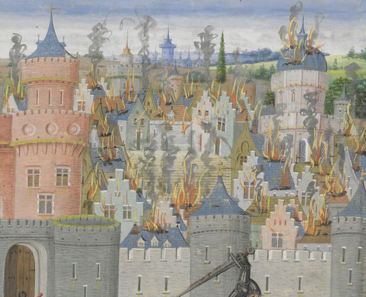 Flemish architecture aflame