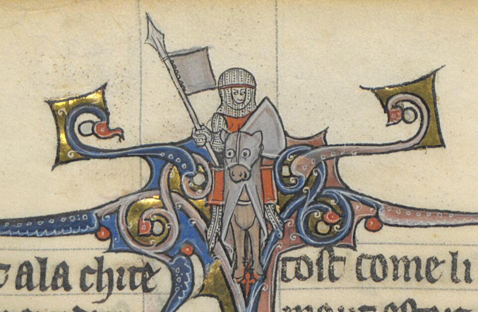 Face-on view of a knight