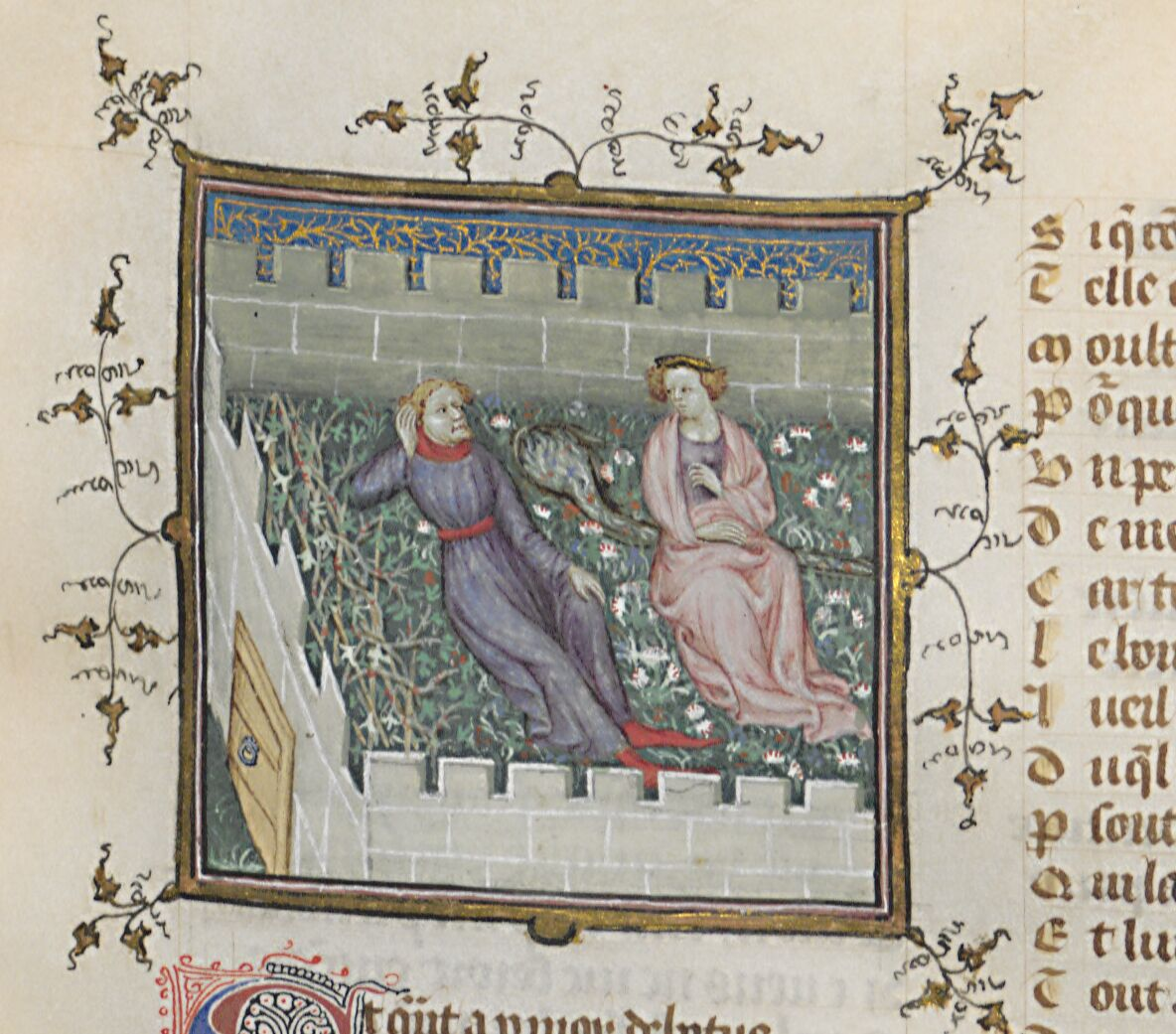 Machaut's garden of Love