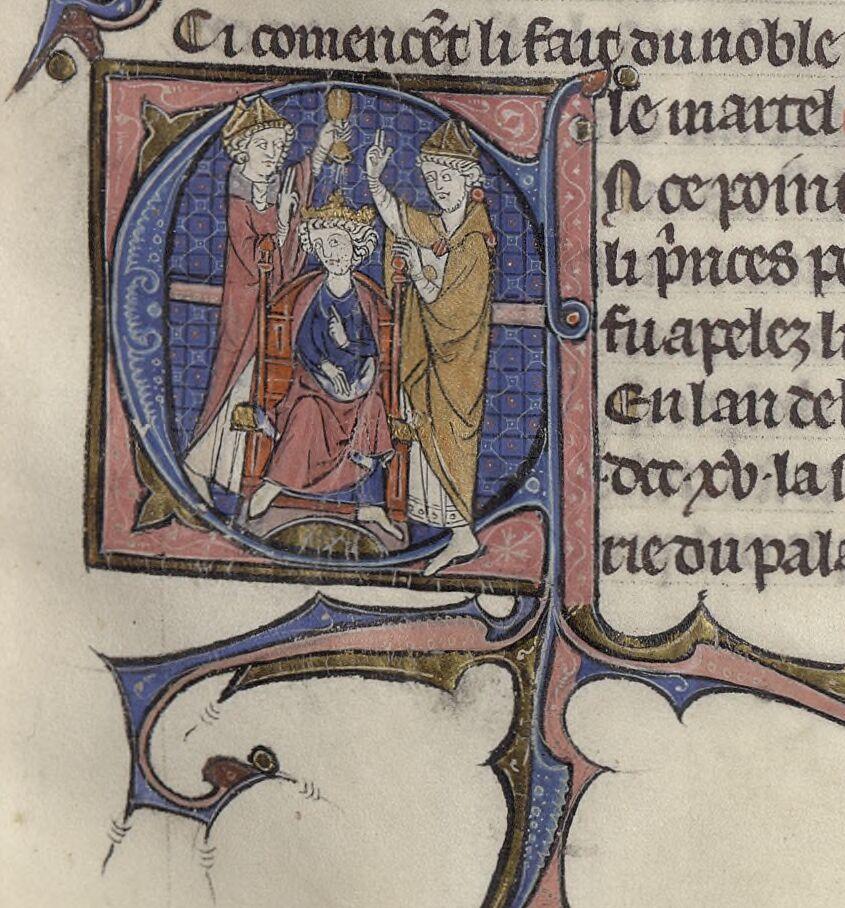 Manuscrits de la Bibliothèque Sainte-Geneviève. Chroniques de Saint-Denis. Recueil.