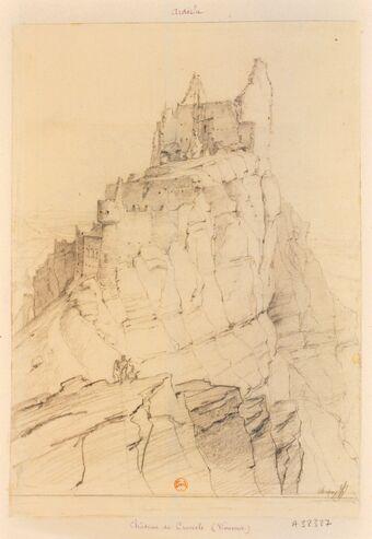 Château de Crussol. Vivarais : [dessin] / Chapuy