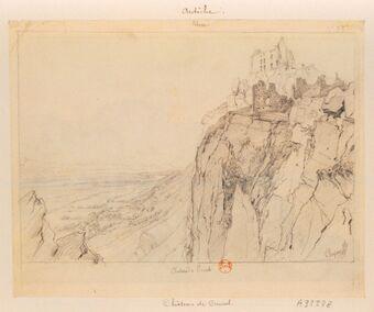 Rhone. Château de Crussol : [dessin] / Chapuy