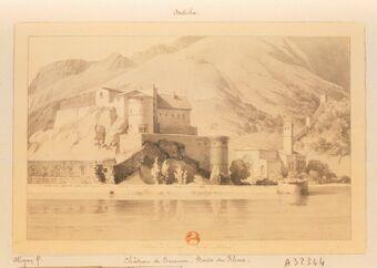 Château de Tournon. Bords du Rhône : [dessin] / [Claude-Félix-Théodore d'Aligny]