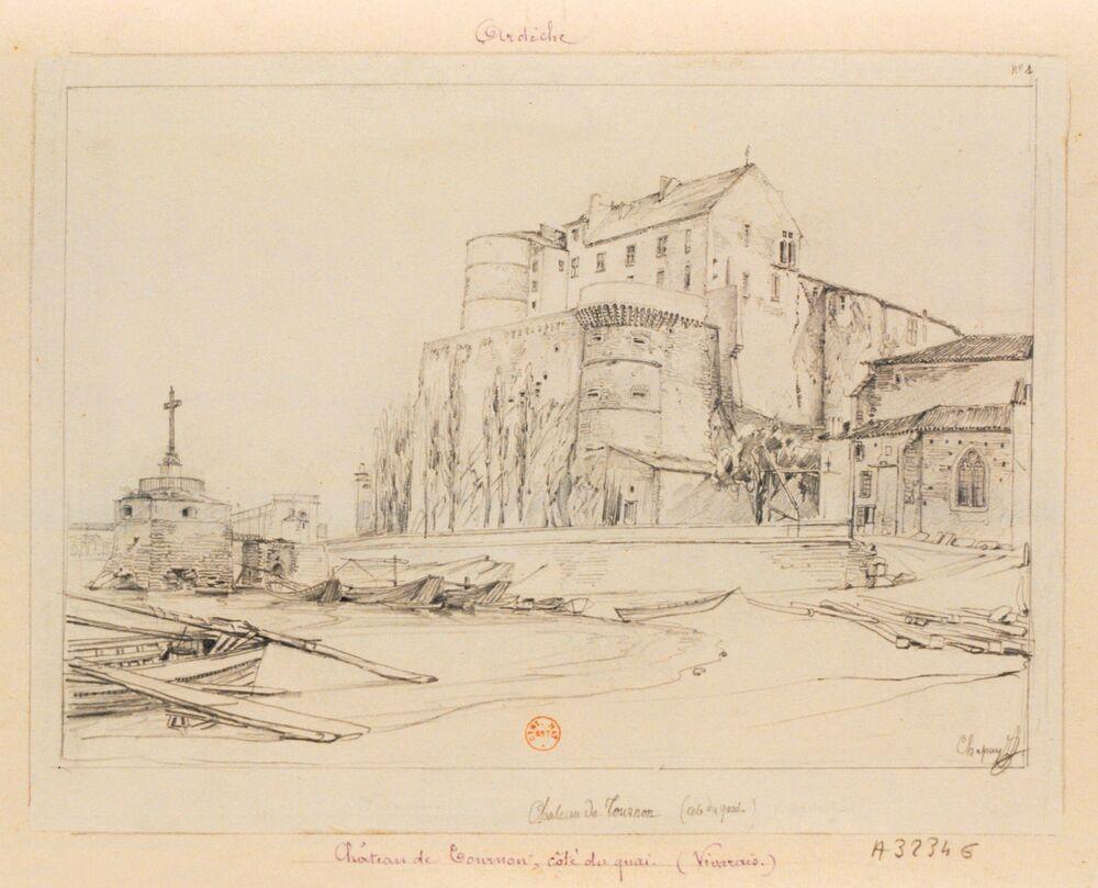 Chateau de Tournon (cote du quai) : [dessin] / Chapuy