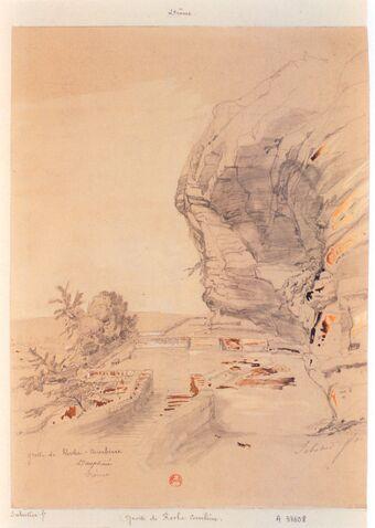 Grotte de Roche-Courbiere. Dauphiné. Drôme : [dessin] / Sabatier ft