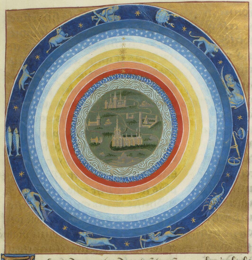 BNF FR 143, fol. 17r – Cosmos