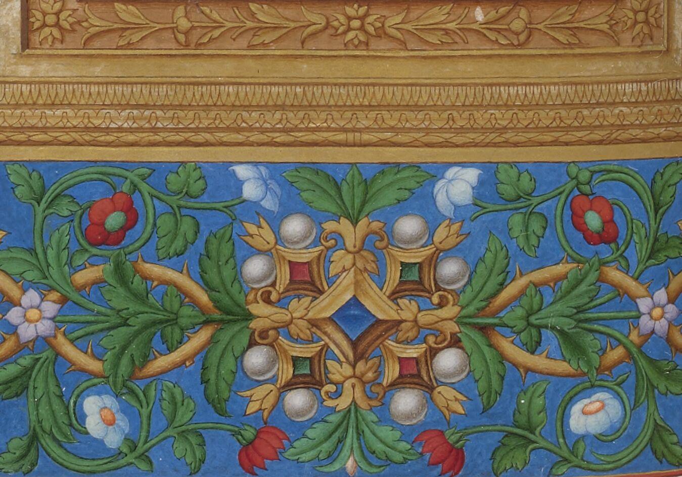 Pearls in a trompe-l'oeil frame