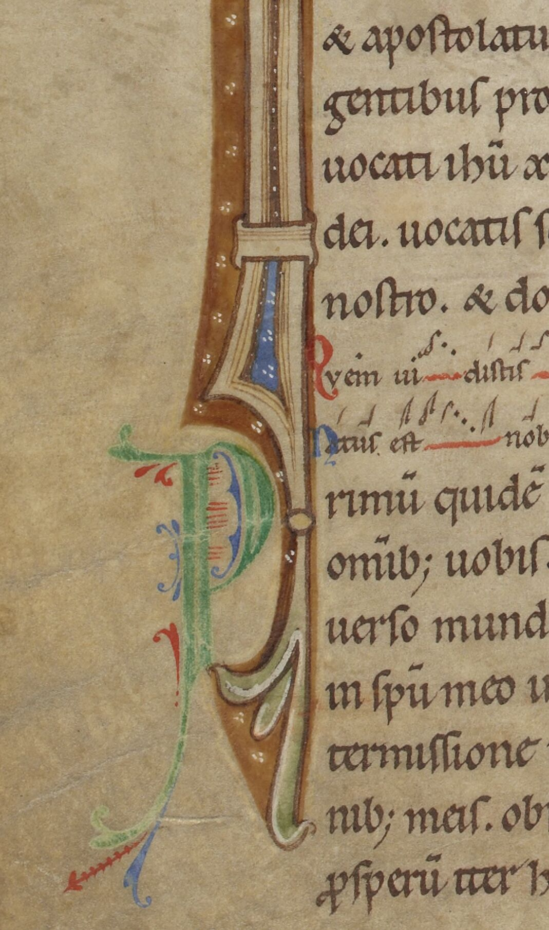 Inside the tail of one initial, another