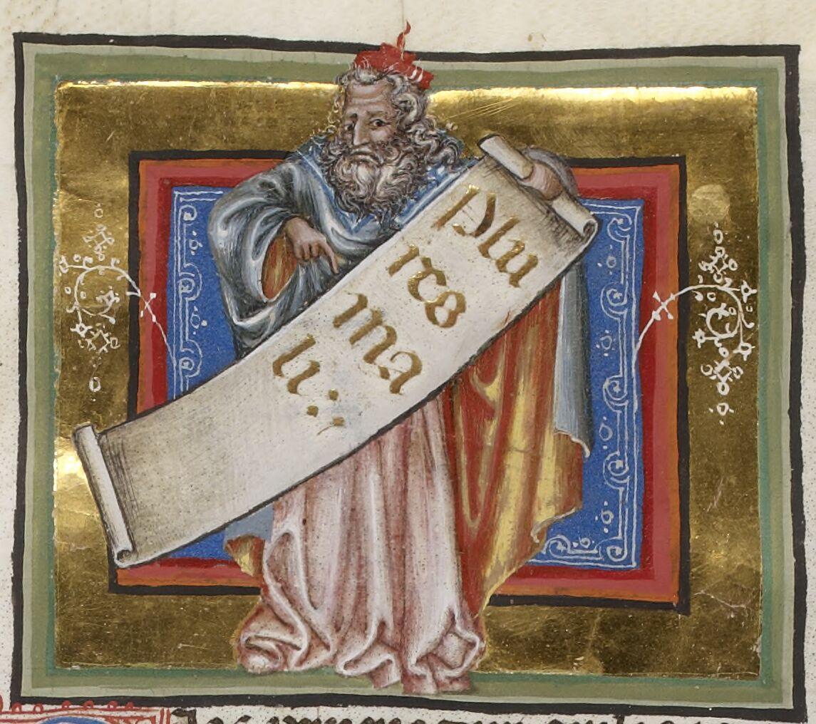 1.° Fabii Fulgentii Planciadis mythologiarum libri tres : praemittitur authoris vita. — 2.° Ludus septem Sapientum : authore Ausonio. — 3.° Nomina et sententiae septem Sapientum. — 4.° Ausonii periochae in Homerum. — 5.° Paulini et Ausonii epistolae mutuae. — 6.° Symmachi et aliorum ad Ausonium epistolae, cum Ausonii responsis. — 7.° Prudentii carmen de natura animae. — 8.° Ausonii versus Paschales. — 9.° Prudentii carmen de fide. — 10.° Ausonii catalogus urbium illustrium. — 11.° Cassiodori, viri Senatoris, liber saecularium litterarum. — 12.° Isidori fragmentum de medicina. — 13.° Boëtii liber de scholastica disciplina. — 14.° Anonymus de decem Sibyllis. — 15.° Erythreae Sibyllae prophetiae. — 16.° Aristotelis liber de pomo. — 17.° Anonymi enarrationes in quindecim libros Ovidii metamorphoseon. — 18.° Prudentii Psychomachia. — 19.° Alberici poëtarius : ibi de origine idololatriae.