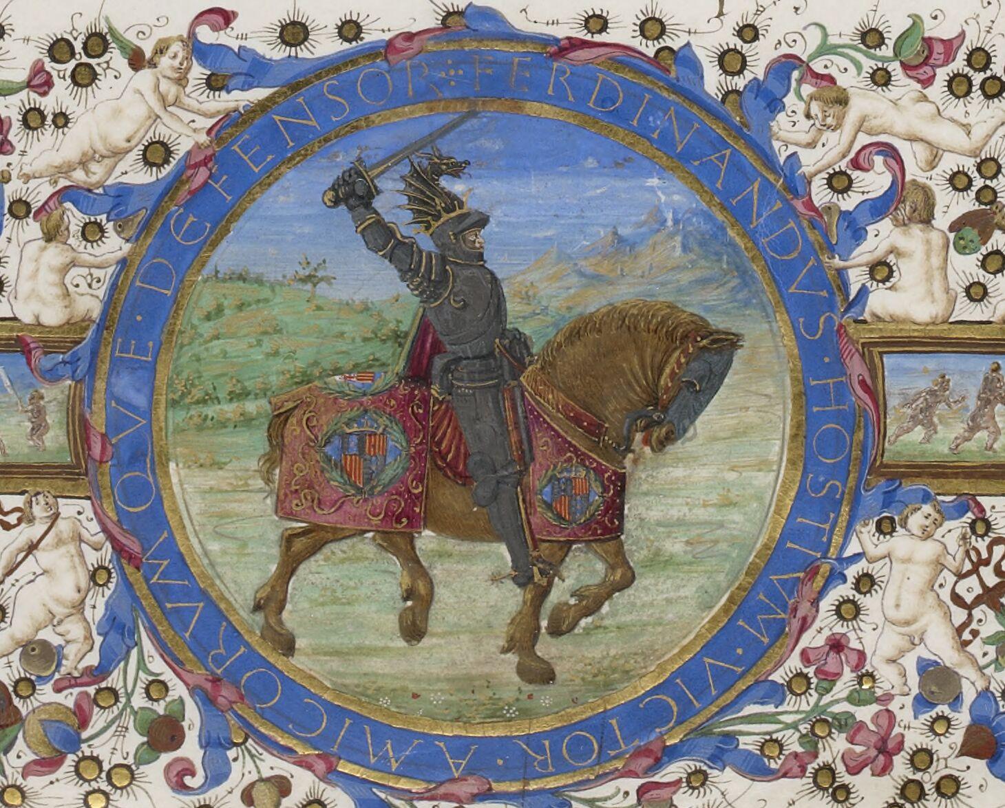 Equestrian medallion