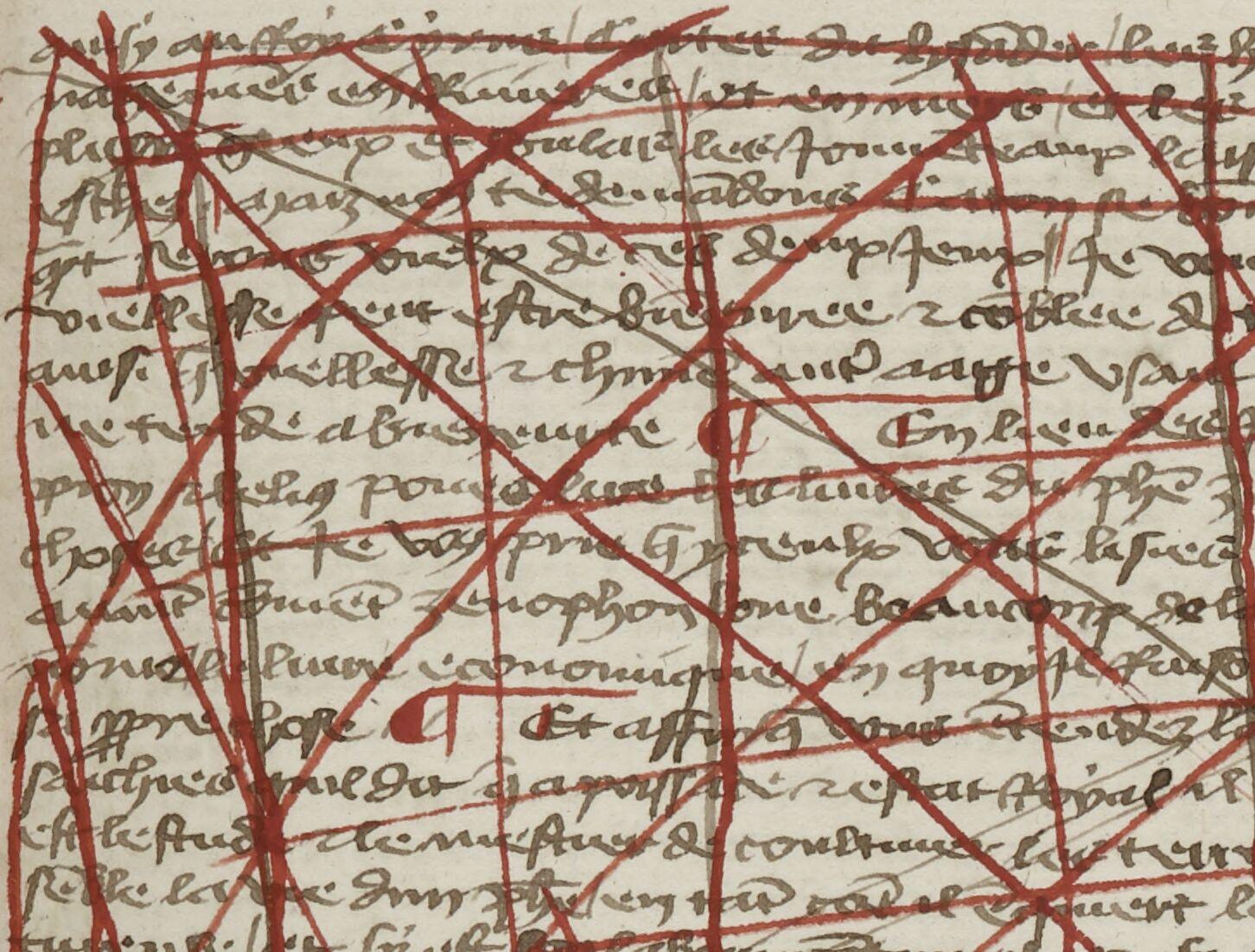Texte sous rature