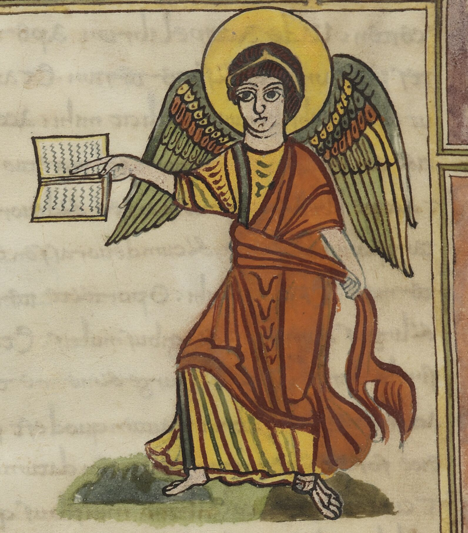 Angel with book and sash – Manuscript Art