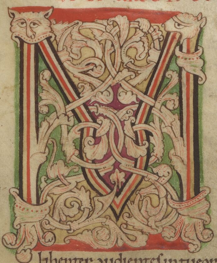 White vines, red thread M