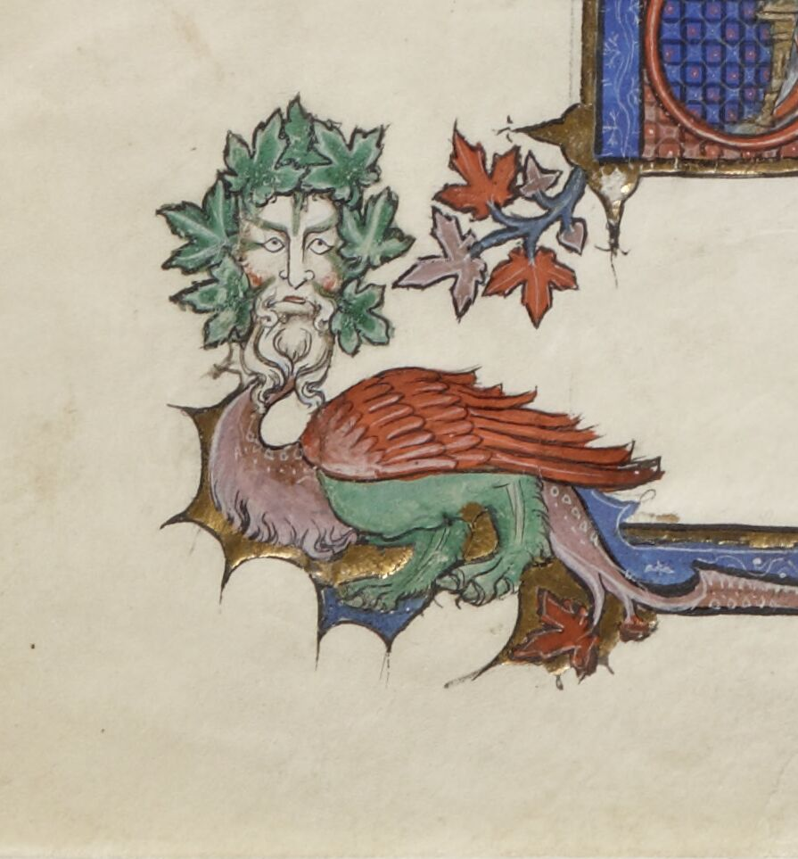 Green man dragon